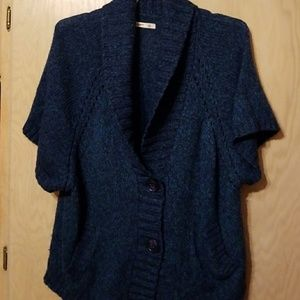Pretty blue Shawl neck  sweater